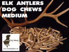 MEDIUM ELK ANTLER DOG CHEW