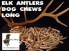 LONG ELK ANTLER DOG CHEW